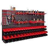 68 cajas apilables, soporte de herramientas, estantería de pared, estantería...