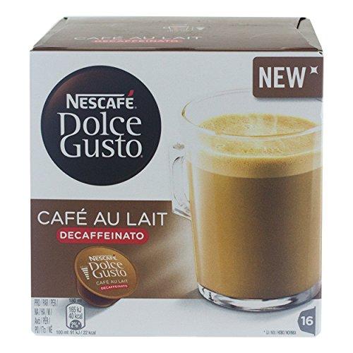 Nescafé Dolce Gusto Café au Lait Decaffeinato, Kaffee, Milchkaffee, 16Kapseln