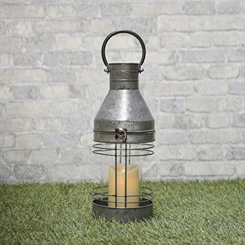 chemin_de_campagne Lanterne Tempête Zinc Fer Extérieur Intérieur 46 cm