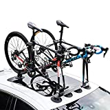 LJ-BICYCLE RACK Dach Fahrradträger Saugnapf Auto Auto Mountainbike Rennrad Tragrahmen Vakuum Adsorption Blue- 2 Bike Version