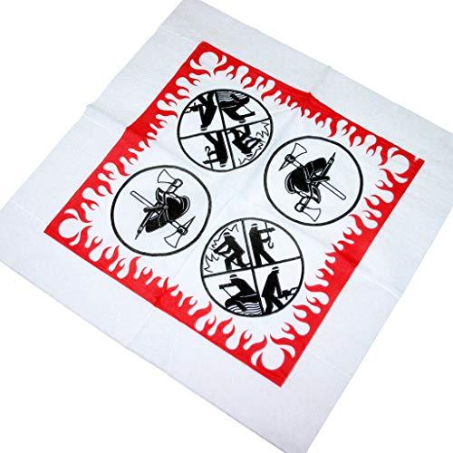 Preisvergleich Produktbild 50 Tissue Papier Servietten 2-lagig 33x33cm im Viertelfalz Feuerwehr