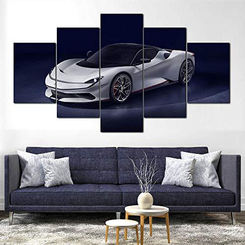 MTRSLH Sobre Lienzo 5 Piezas - Impresión En Lienzo - Pininfarina Battista Super Car - Ancho: 100cm, Altura: 55cm - Listo para Colgar - Enmarcado