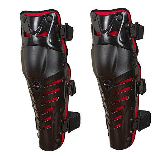 ZRSA Motocross Moto, Ajustable De Carreras De Rodilla Almohadilla Guardia Motocicleta Todoterreno Proteger Engranajes Protector de Rodilleras para Motocicleta, Motocross y Bicicletas de montañ