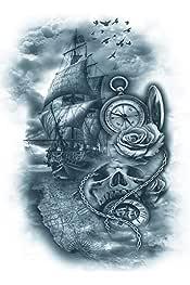 Amazon.es: brujula - Tatuajes temporales / Cuerpo: Belleza