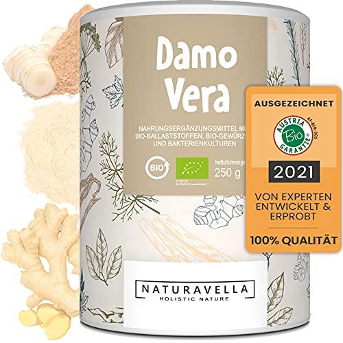 DamoVera® Bio-Darmkur vom Experten | Premium-Komplex aus Bio-Ballaststoffen, Bio-Gewürzen und Bakterienkulturen I Hochdosiert, vegan und laborgeprüft, 250g