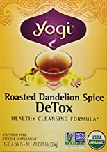 Yogi Roasted Dandelion Spice Detox Tea Bags 16 oz