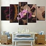Diy 5D pintura de diamante 5 piezas de diamantes de imitación frutas frambuesa tipo de helado póster imágenes tienda de dulces arte decorativo de pared diamante redondo
