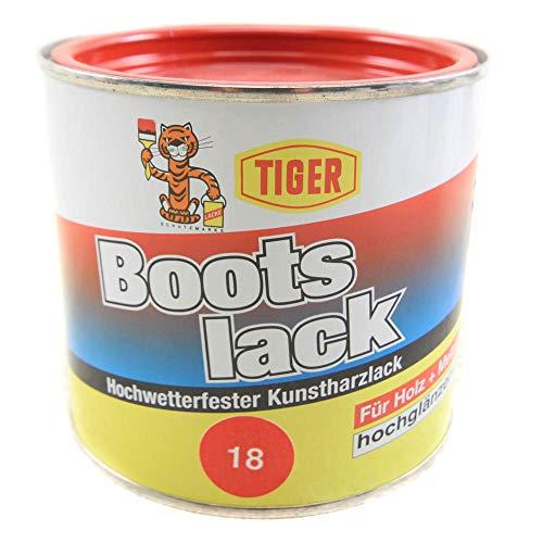 Kunstharzlack Tiger Bootslack signalrot 18 hochglänzend 0,5kg