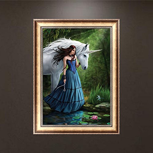 Arich Beauty and Horse DIY 5D Diamond Painting Cross Stitch Resin Embroidery Craft Home Decor