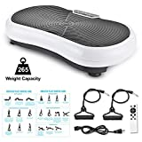TECHMOO Vibration Plate Fitness Vibration Platform Whole Body Workout Power Plate Home Exercise Machine W/Remote Control & Bands for Home Fitness Losing Weight Max User Weight 320lbs