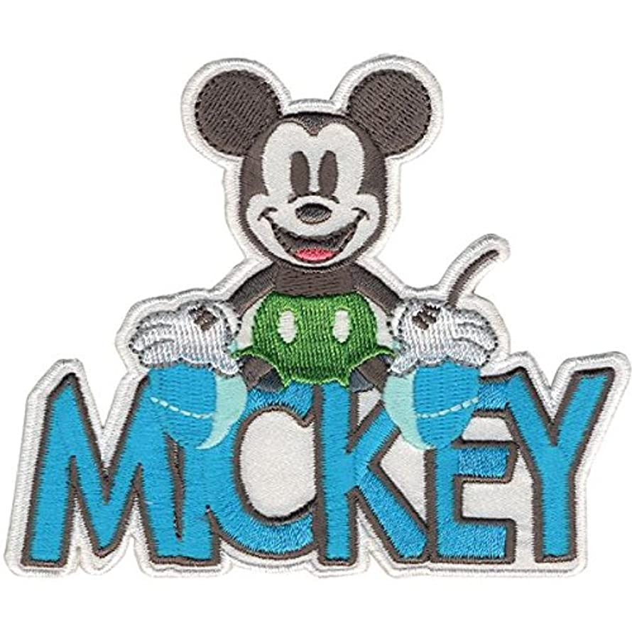 Wrights Disney Mickey Mouse Mickey with Name Iron-On Applique