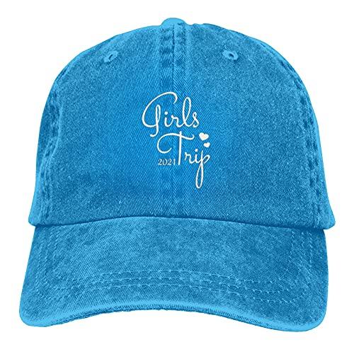 Jopath Süße Mädchen Trip 2021 Klassische Mütze Baseball Cap Herren Damen Waschbar Verstellbare Kappe Gr. One size, blau