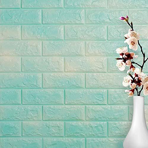 GJC Wandaufkleber 3D Stereo Selbstklebende Tapete Ziegelstein Muster Dekoration Feuchtigkeits Proof Mehltau Kinder Schlafzimmer 75 * 66 * 1 cm,I