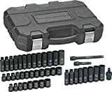 GEARWRENCH 44 Pc. 3/8' Drive 6 Pt. Impact Socket Set, Standard & Deep, SAE/Metric - 84916N