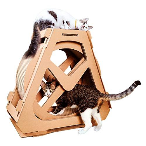 Fikujap Cat-Laufband, Haustierspielzeug, Rollersport, multifunktionale Katzenklaue, für Katzen unter 16 lb