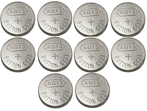 Lot 10 Piles bouton Alcaline 1.5v AG13 LR44 G13-A D303 L1154 L1154F