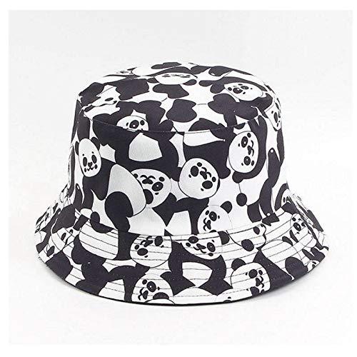 HWZZ Gorro pescador Blanco Y Negro De Doble Cara Impresión De La Vaca Con El Sombrero De La Moda De Las Señoras Y El Sombrero Del Sol De La Moda De Los Hombres Con Sombrero De Pescador Sombrero Casual