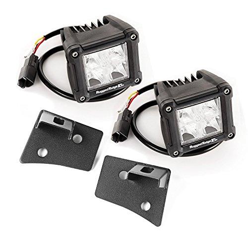 Rugged Ridge 11027.20 Windschutzscheiben-Halterung, LED, strukturiert, Dual Cube, ab Baujahr 2007, Jeep Wrangler JK, schwarz