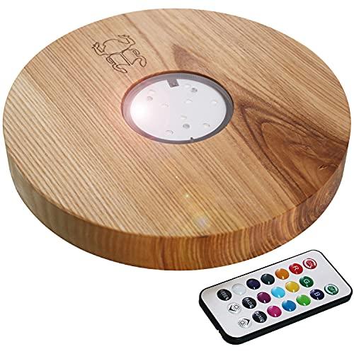 Kaya Leewadee - Base led (22 cm, madera de fresno y mando a distancia)