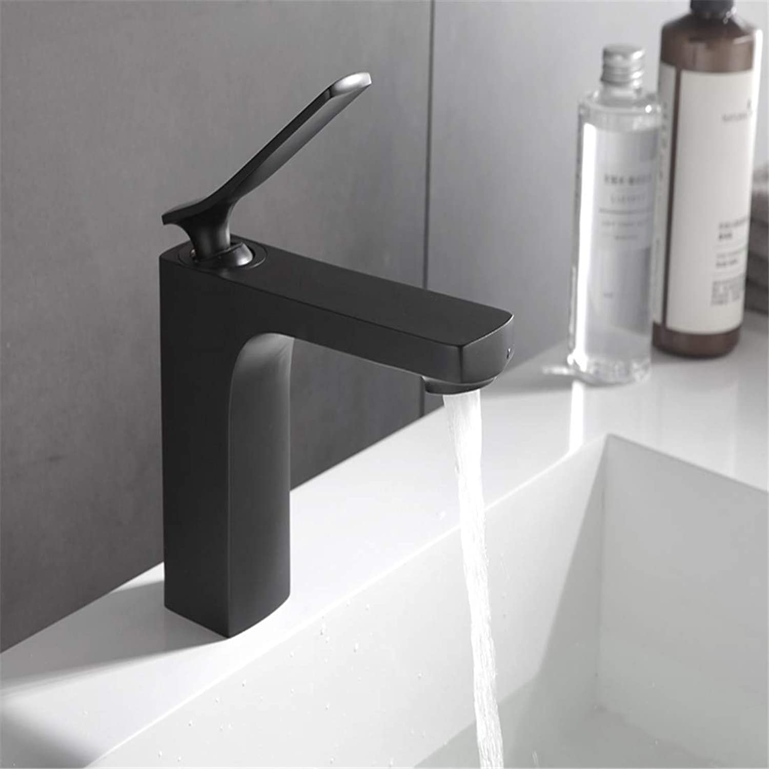 Retro Plated Hot and Cold Faucet Retromatte Black Faucet Basin Sink Mixer Tap Brass Made Single Handle