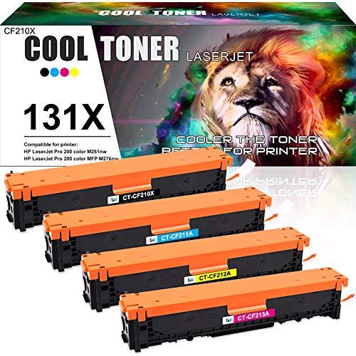 Cool Toner Gereviseerde Toner Cartridge voor HP 131X 131A CF210X CF210A voor HP Laserjet Pro 200 Color MFP M276n M276nw M251n M251nw M276 M251, 128A CE320A CM1415FN CP1525N, 125A CB540A CP1215