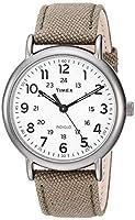 Timex メンズ ウィークエンダー 40mm 腕時計 Olive/Titanium