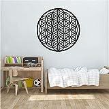 FXBSZ Aufkleber Life Seed Vinyl Mandala Aufkleber Wanddekoration Geometrisches Muster...