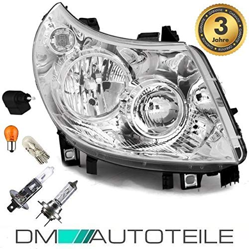 DM Autoteile Ducato 250 Boxer Jumper Scheinwerfer Rechts 06-10 +Birnen Paket