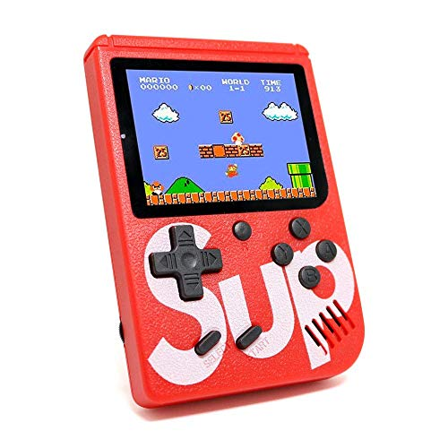 Saleshop365® Sup Game Box 400 in 1 USB Rechargeable Console/Led Screen/Retro Classic Gaming Console Portable for Kids
