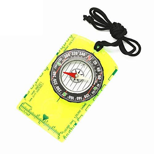 Multifunctioneel Kompas Draagbaar Richtbaar Waterdicht Anti-Shock Kompas Met Schaal Tekening Kaart Liniaal Voor Wandelen/Reizen/Kamperen/Lesgeven/Buitenreizen
