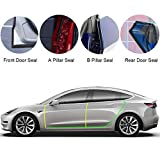 BASENOR Tesla Model 3 Model Y Model S Door Seal Kit Soundproof Rubber Weather Draft Seal Strip Wind Noise Reduction Kit