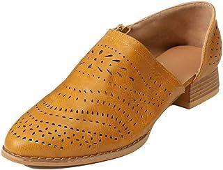 51d670f7 Sandalias Mujer Tacón Bloque Bajo Botas Cuña Zapatos Verano Slip on Tobillo  Chunky Botines Hueco Moda