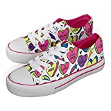 Jex Shoes - Zapatillas de Sintético para niña Rosa Blanco, Color Rosa, Talla 38 EU