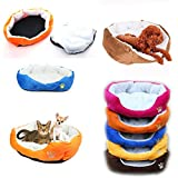 Generic/UNBRAND Small Medium Dog Puppy Cat Pet Soft Cotton Fleece Cozy Warm Nest Bed Mat House