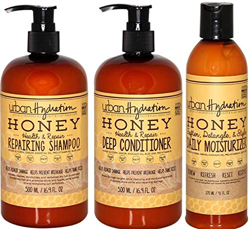 Urban Hydration Honey Hair Cleansing and Deep Hydration - 3pc Set