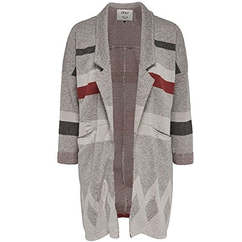 Only 15120057, Cardigan Donna, Multicolore (Marsala), X-Small