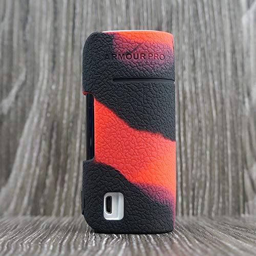 CEOKS for Vaporesso Armour Pro 100W Silicone Case, Anti-Slip Protective Silicone Case Skin Rubber Cover for Vaporesso Armour Pro TC Mod Box Rubber case wrap Shield (Black/Red)