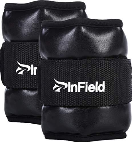 InField アンクルウェイト リスト 筋トレ ウォーキング ダイエット エクササイズ 体幹トレーニング リストウェイト アンクルウェイト パワーアンクル リストバンド 1.5kg