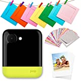 Zink Polaroid Pop 2.0 2 in 1 Wireless Portable Instant 3x4 Photo Printer & Digital 20MP Camera with Touchscreen Display, Built-in Wi-Fi, 1080p HD Video (Yellow) Prints from Your Smartphone