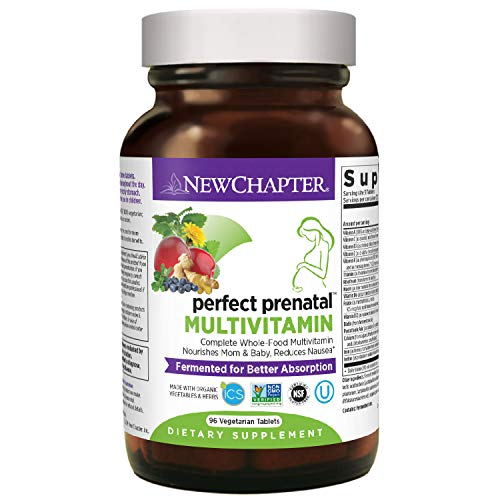 New Chapter Perfect Prenatal Vitamins, 96ct, Organic Prenatal Vitamins, Non-GMO...