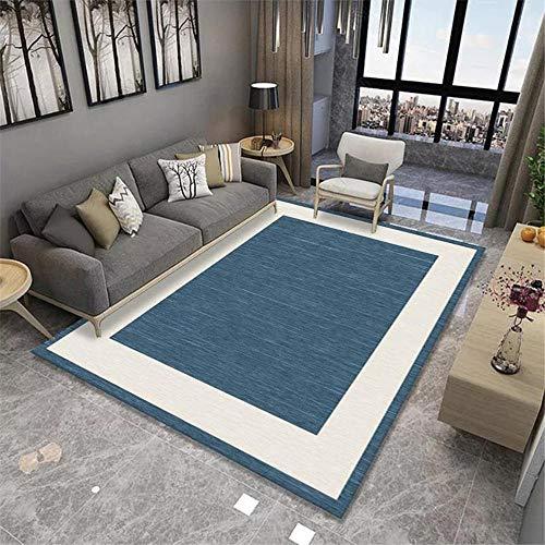 Tappetti camera da letto accessori morbido Tappeto di design semplice crema blu lavabile decorazioni salotto tappeto bimba cameretta 60*160CM