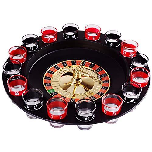 YanYun Neuheit Kreatives Getr?nk Plattenspieler Spielzeug Russisches Roulette Rad 16 Weinschalen Bar Ktv Nacht Party Unterhaltung
