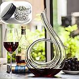 SDFSX Carafe à vin en cristal soufflé à la main sans plomb 1,2 l
