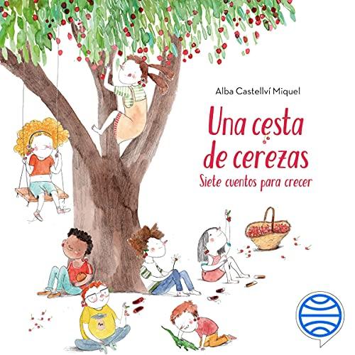 Diseño de la portada del título Una cesta de cerezas