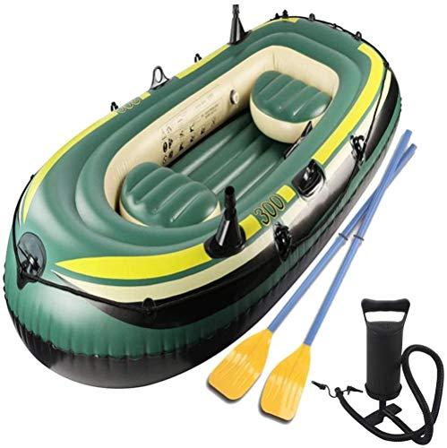 XLXay Schlauchboot 3 Personen Mit Paddel Kajak Boot Aufblasbares Boot Ruderboot Gummiboot Sportboot Angelboot-3_Person_C