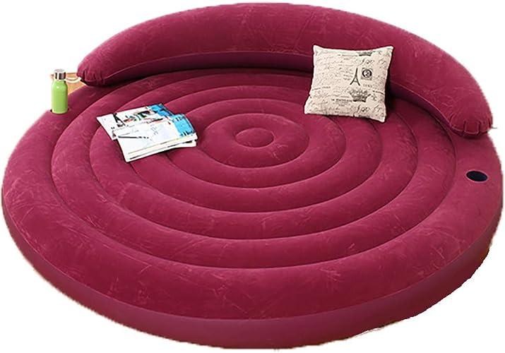 Houtdo Canapé Gonflable Chaise Matelas Portable Air Sofa Gonflable pour Bureau Maison Extérieur Rose Rohommetique