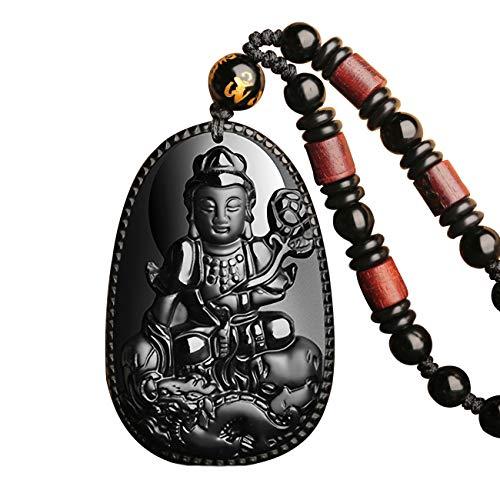 Pure Natural Obsidian Pendant Necklace Protection Amulet Talisman Pendant Necklace for Men Women