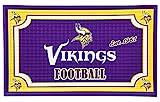 Team Sports America 41EM3817 Minnesota Vikings Embossed Door Mat