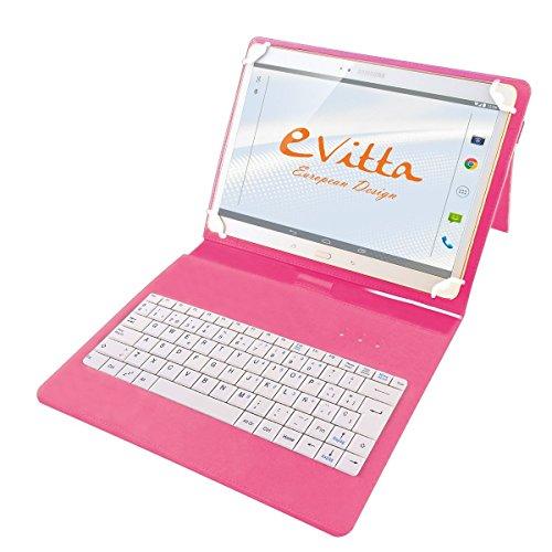 E-Vitta EVUN000511 - Funda con Teclado USB para Tablets 9, 7'/10, 1', Color Rosa