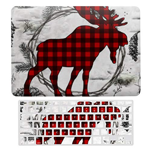 MacBook Pro 13 inch Case 2020 2019 2018 2017 Release A2159 A1989 A1706, Plastic Hard Protective Laptop Case Shell With Keyboard Cover, Birch Moose